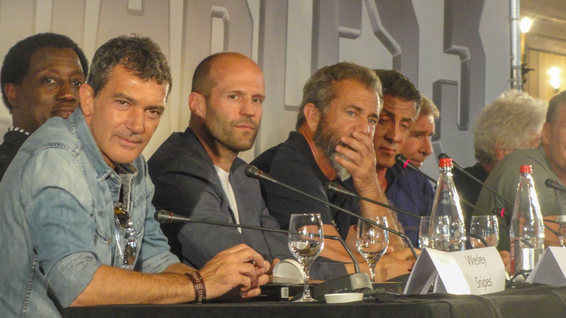 Decibel06 - Conférence de presse - Expendables FESTIVAL de CANNES - Stallone - Snipes - Banderas - Statham - Gibson